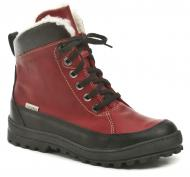 Dámské zimní kotníkové boty Wawel N288 červená